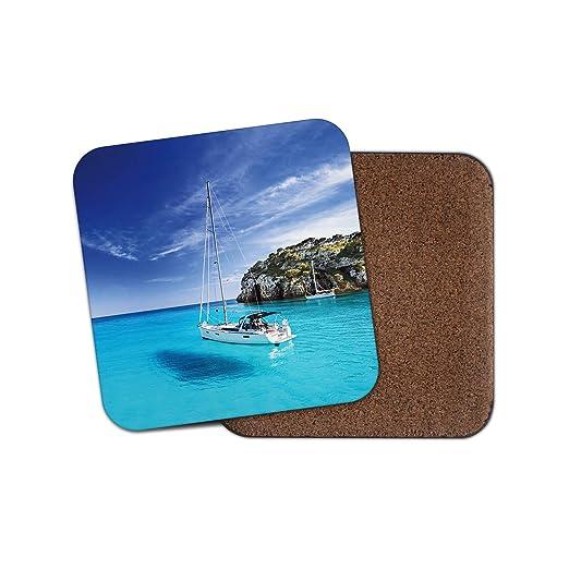 Menorca Island posavasos - España vela barco mar mar vacaciones regalo #14919: Amazon.es: Hogar