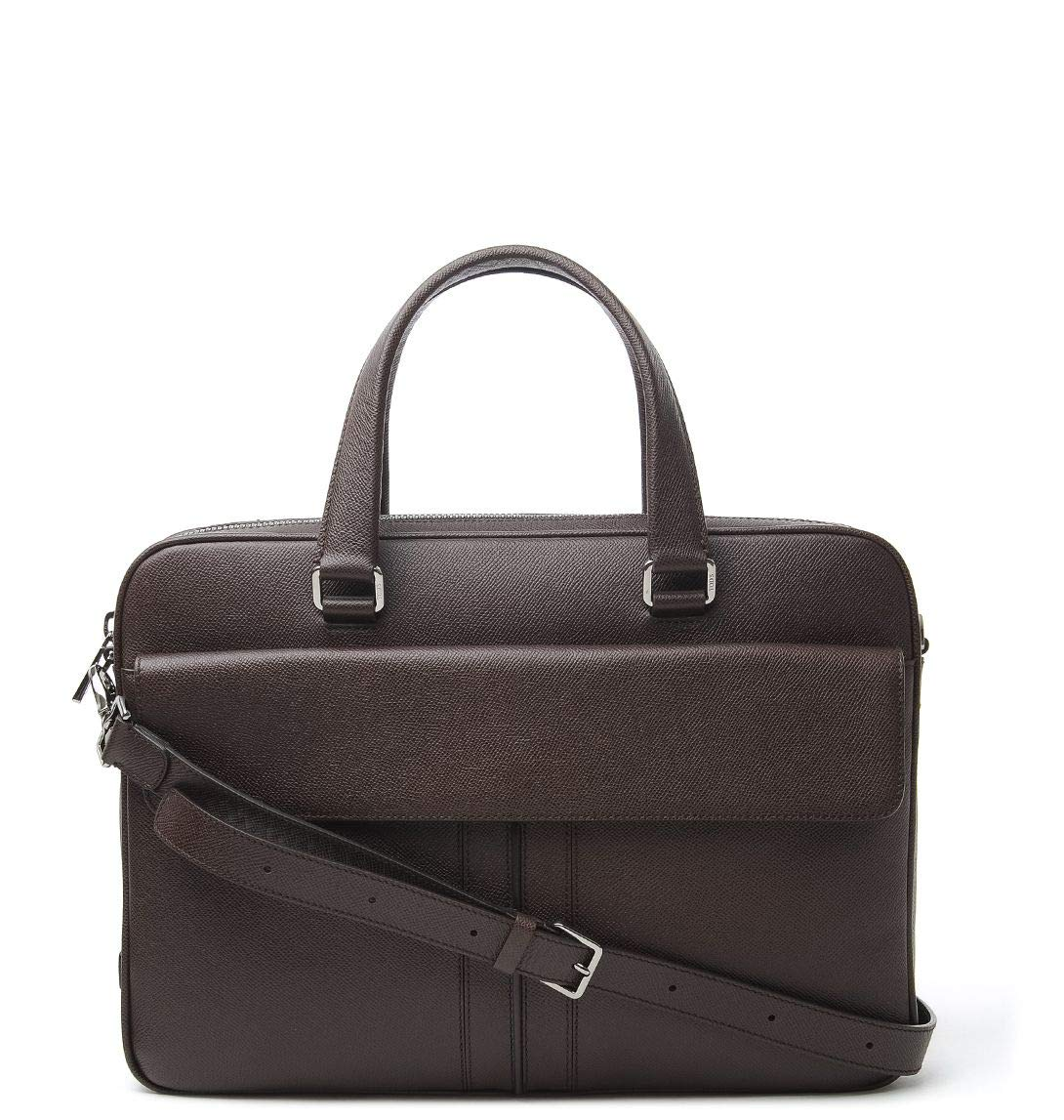 Tods Mens Xbmmcgp9300dous804 Brown Leather Briefcase
