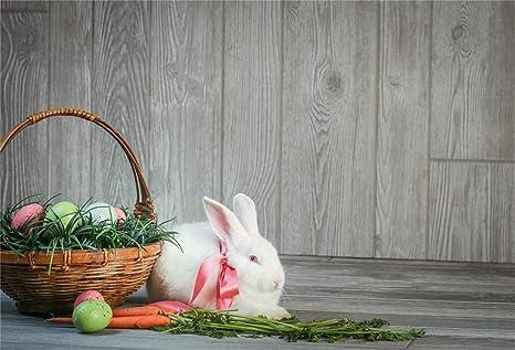5x7FT Vinyl Easter Day Egg Rabbit Radish Photography Backdrop Background Studio