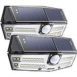 Mpow センサーライト ソーラーライト 40led IP65 防水 3つ点灯モード センサー時間30s 人感ライト 屋外照明 18ヶ月間保証 停電防災緊急対策 2019年新品 2個