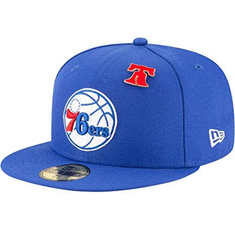 05fc4a179f2 New Era Philadelphia 76ers 2018 NBA Draft Cap 59Fifty Fitted Hat - Royal (7  1