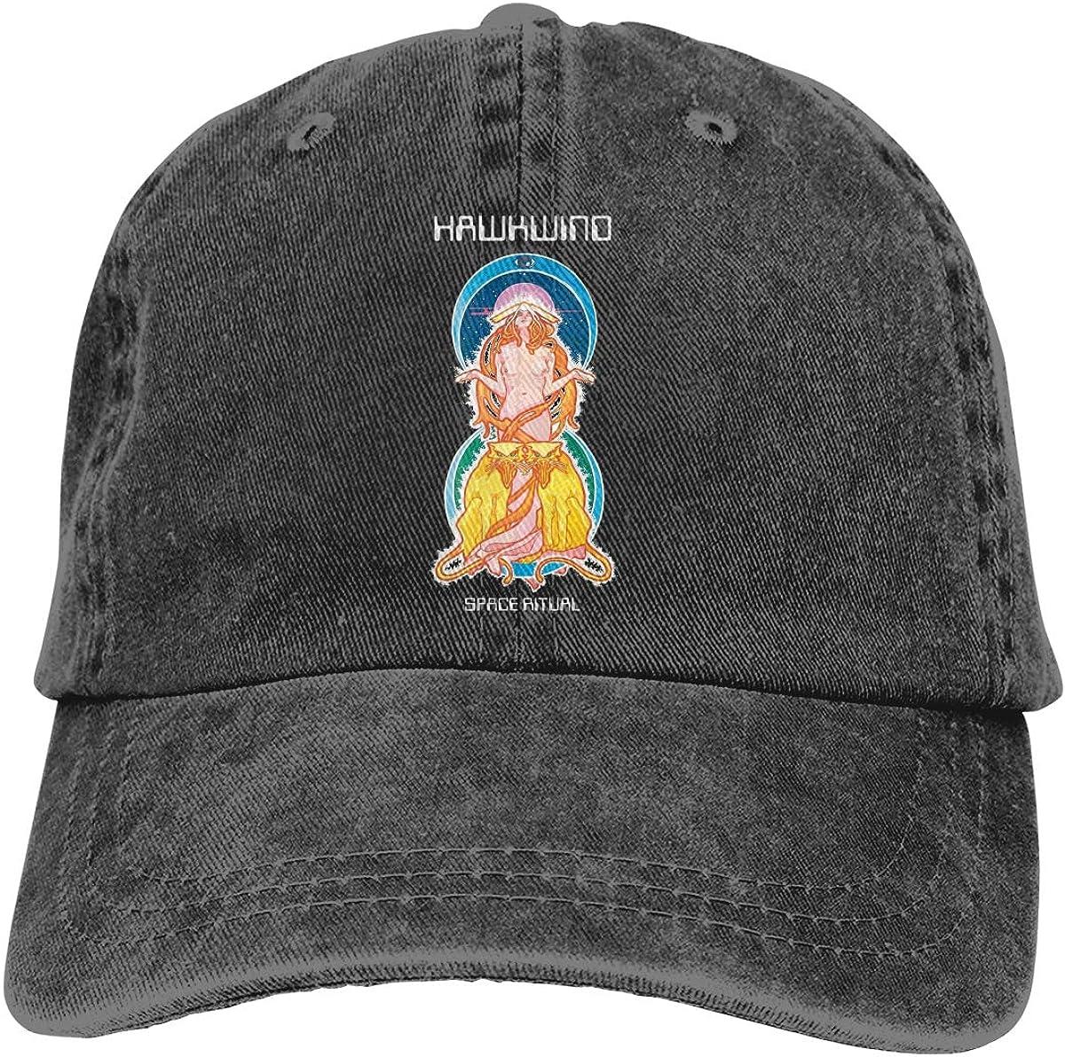 Men and Women 3D Printed Wild Hawkwind Cowboy Hat Black