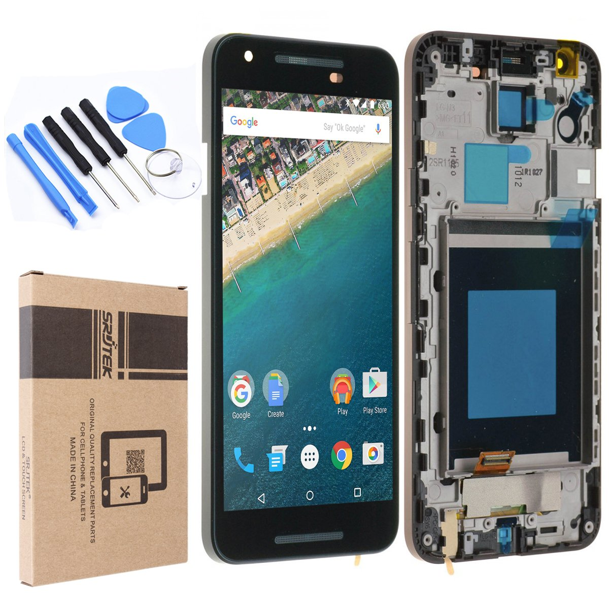for LG Nexus 5X Screen Replacement,LCD Display Screen and Touch Screen Digitizer for H791 H790 SRJTEK Parts by srjtek