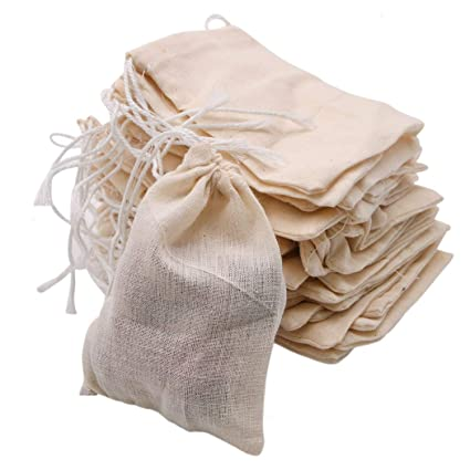 1bd03cc2def1 Amazon.com: JETEHO 50 Pieces Cotton Drawstring Bags Muslin Bags ...