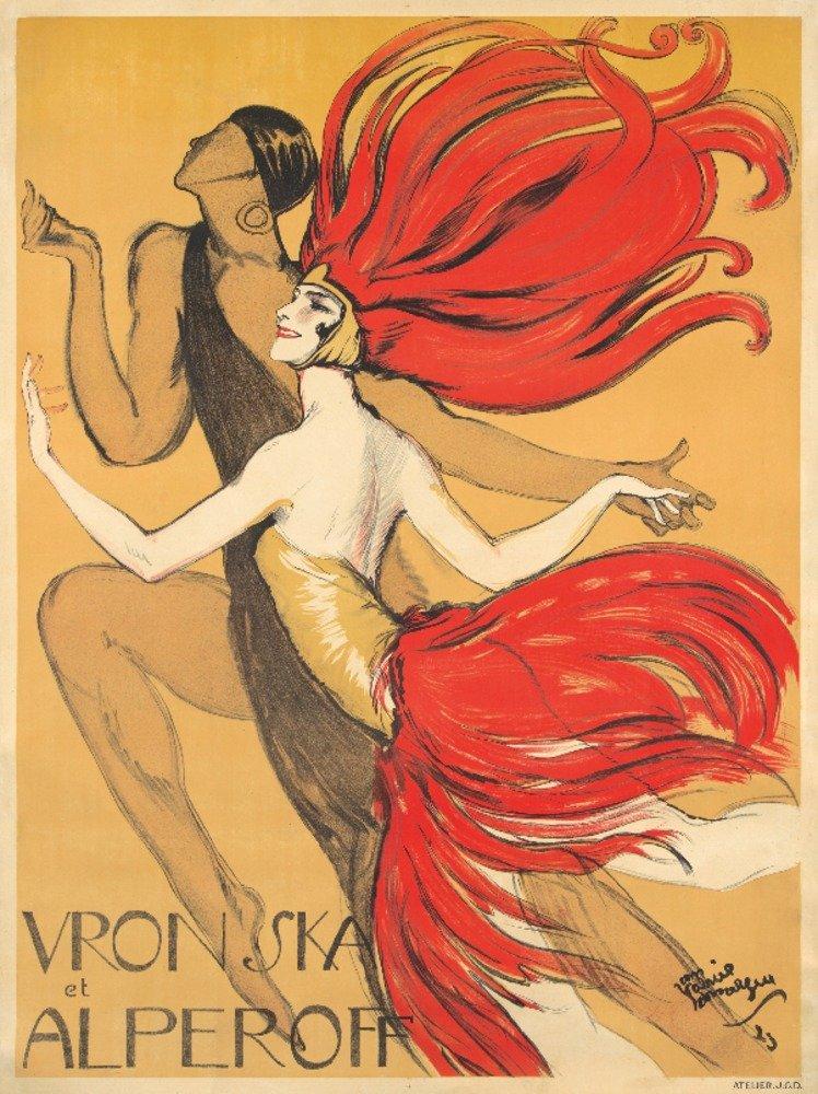 vronska et alperoffヴィンテージポスター(アーティスト: Domergue )フランスC。1923 36 x 54 Giclee Print LANT-74047-36x54 36 x 54 Giclee Print  B01MPZXZEM