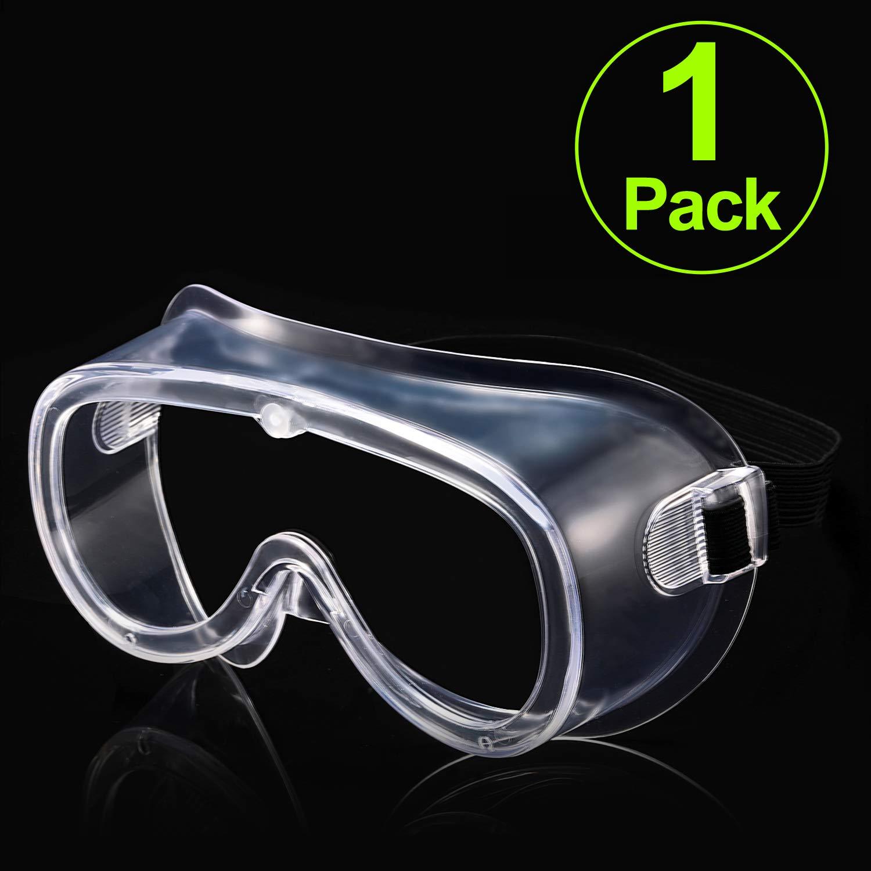 Carfia Gafas de Proteccion Gafas de seguridad Lentes antiniebla transparentes Antiproyección Lentes a prueba de polvo Lentes de protección ocular