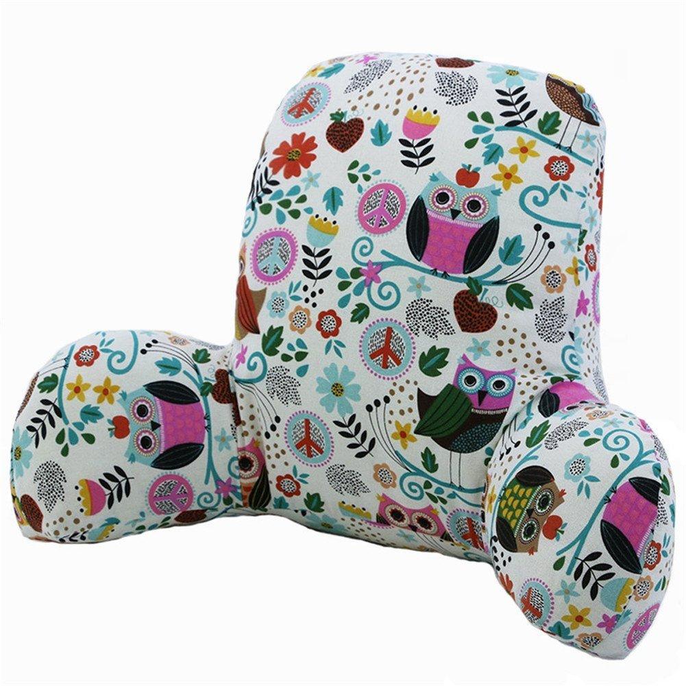 Waist Cushion Pillow Office Seat Pillow Cotton Linen Lumbar Waist Pillow Pad Seat Backrest Cushion Car Sofa Support Backrest Pillow (Dream Christmas) Nuobo