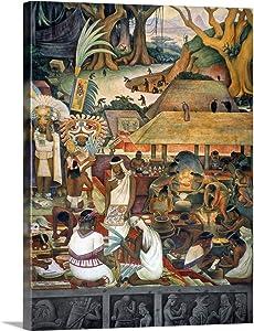 "GREATBIGCANVAS Rivera: Pre-Columbian Life Canvas Wall Art Print, Home Decor Artwork, 12""x16""x1.5"""