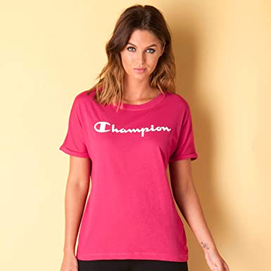Champion Womens Womens T Shirt In Pink 8 10 Champion Amazon Co