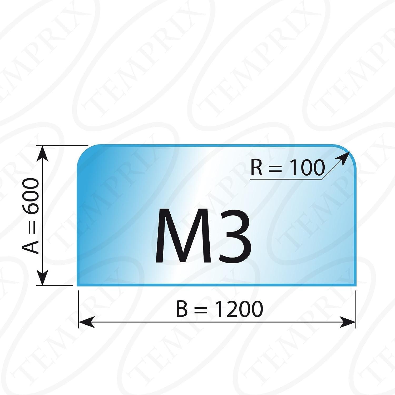 Kaminbodenplatte Glas mit C-Schliff Sonderma/ße /& Anfertigung auf Anfrage /Ø 1100 mm F/ür Kamin /& Ofen geeignet Temprix Funkenschutzplatte /& Bodenplatte Glas ECO H1