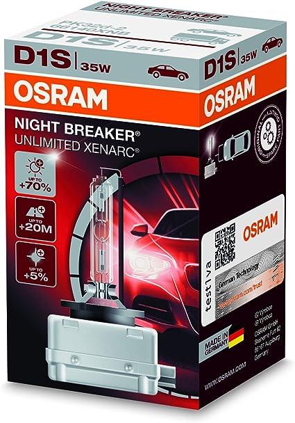 66140XNB-HCB l/ámpara de descarga 1 unidad OSRAM XENARC NIGHT BREAKER UNLIMITED D1S HID l/ámpara de xen/ón