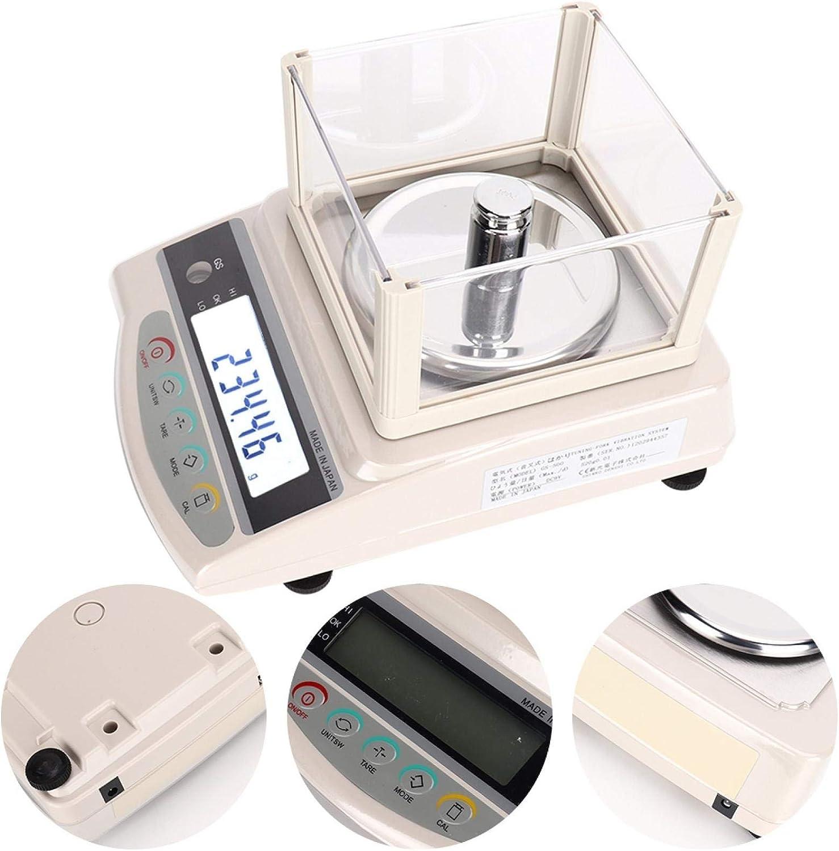 Báscula electrónica 500g / 0.1g Peso con precisión, maravillosa herramienta de medición(European standard 220V, pink)