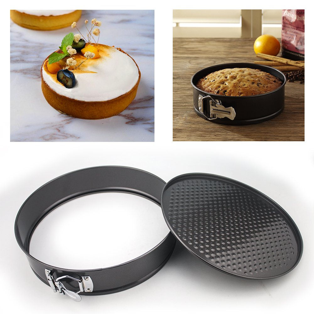 WARM MAISON Nonstick Springform Pan Set Leakproof 10.5inch Square 10 inch Round 9 inch Heart Baking Pie Cheese Cake Molds Pan Set with Quick Release Latch and Removable Bottom by WARM MAISON (Image #5)