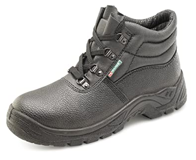e705c8f00f6e5 Click - Black Leather Safety Boot with Steel Toecap  Amazon.co.uk  Welcome