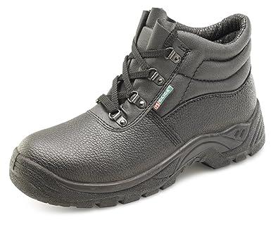 B-Click Workwear - Botas de seguridad (piel, suela antideslizante y antiestática): Amazon.es: Industria, empresas y ciencia