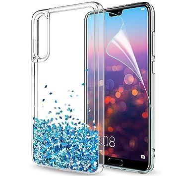 LeYi Funda Huawei P20 Pro Silicona Purpurina Carcasa con HD Protectores de Pantalla,Transparente Cristal Bumper Telefono Gel TPU Fundas Case Cover ...