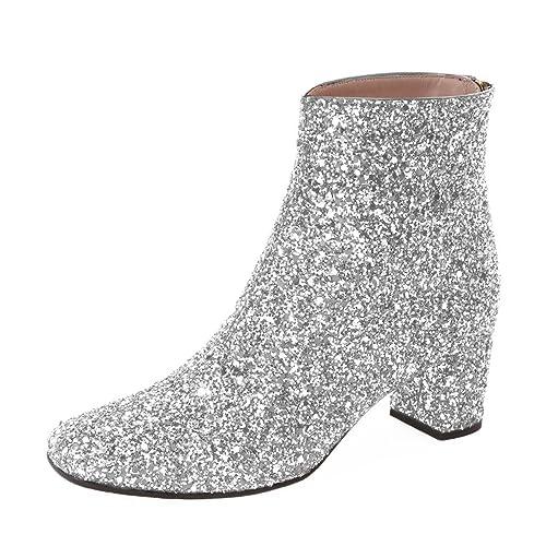 Glitter Ankle Boots: Amazon.com