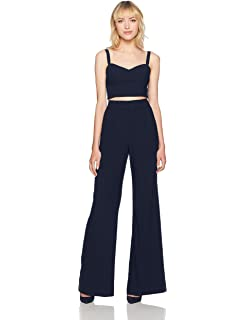64a337b97cd Amazon.com  Black Halo Women s Mayka Two Piece Jumpsuit  Clothing