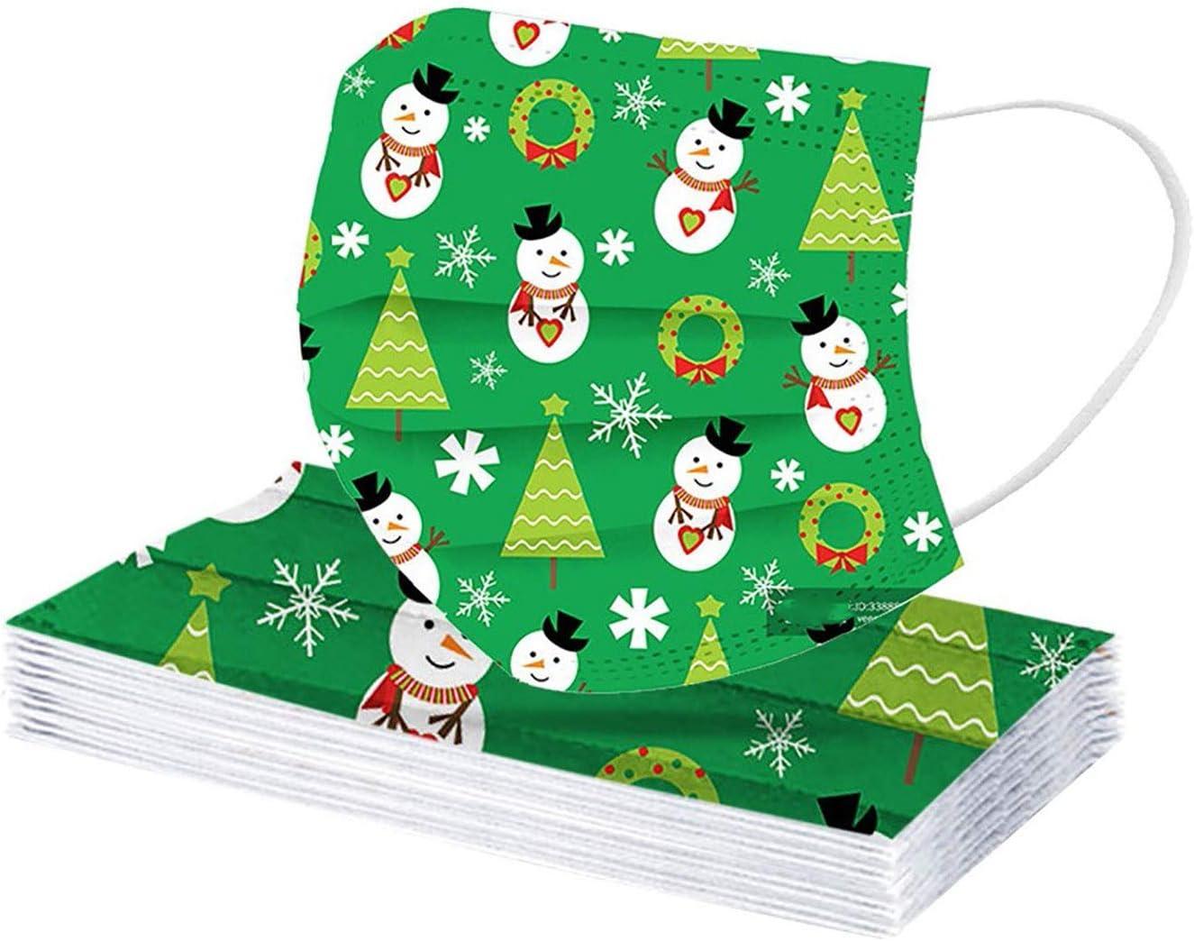 MGET Adulto Pack 10pcs MASCARILLAS Adulto FACIALES DE Tela Lavable M/áscaras Reutilizables de la mascarilla de la impresi/ón de la Serie Arcoiris de Navidad//Halloween del ni/ño