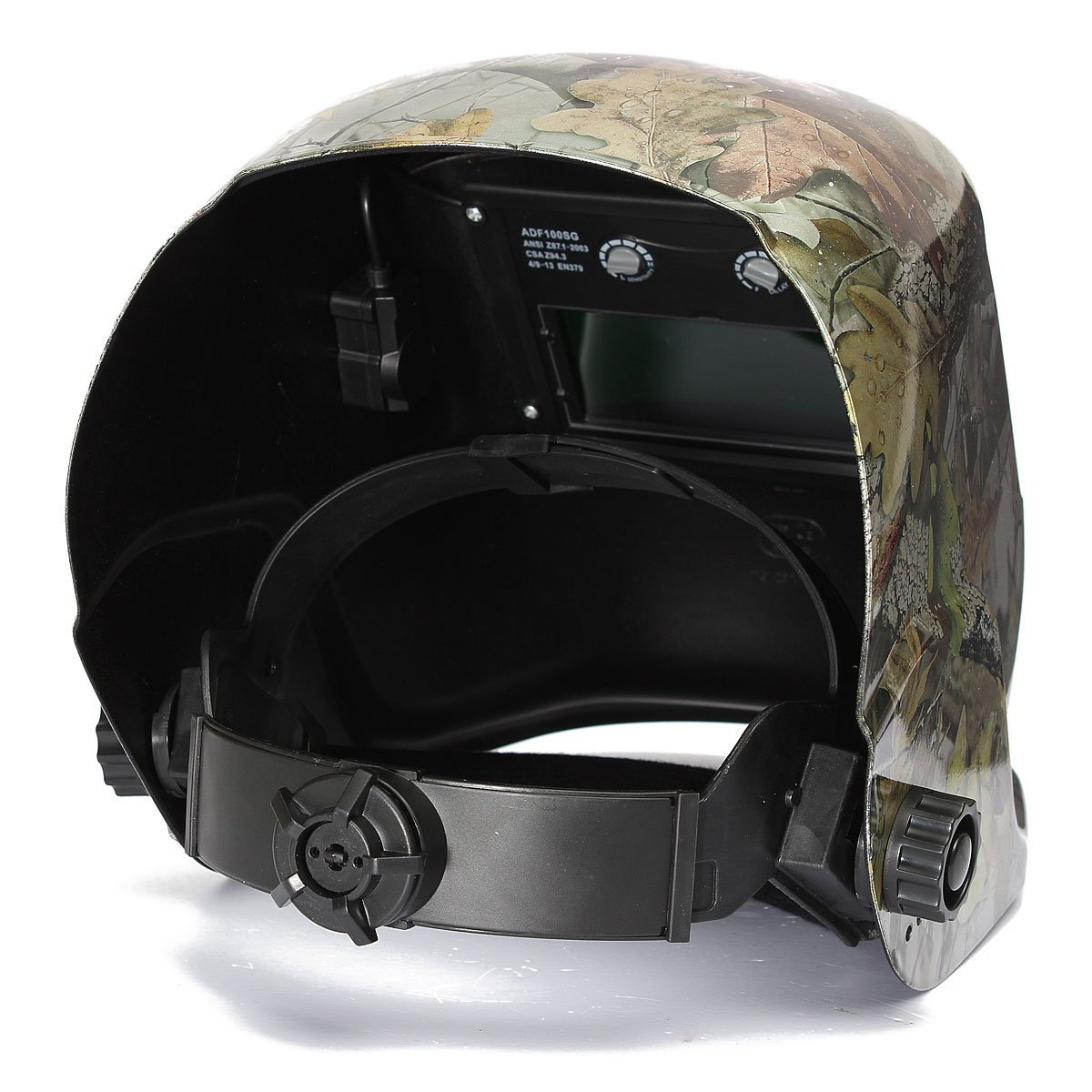 Youareking Adjustable Auto Darkening Solar Power Welding Helmet Forest Camo Arc Tig Mig Mask with 2pcs Extra Lens Covers (Autumn Leaf)