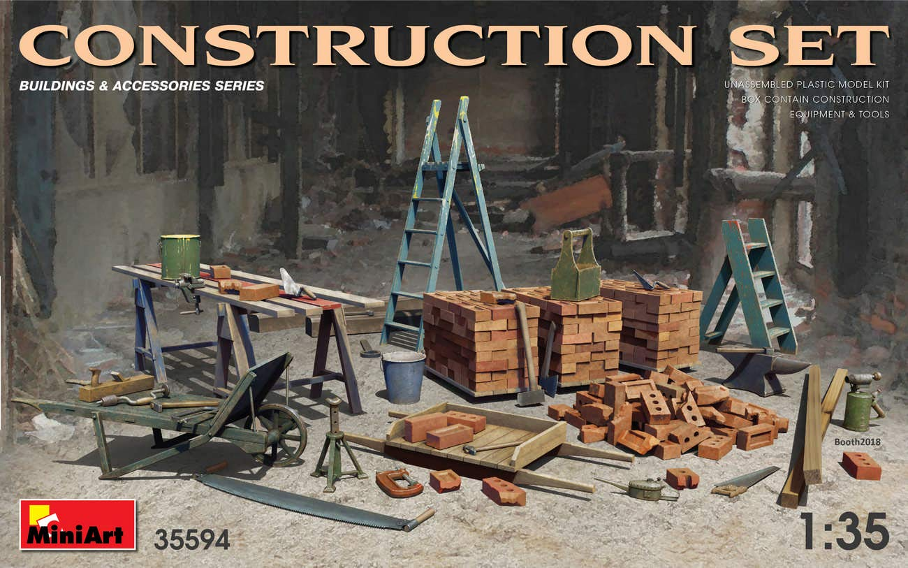 MiniArt 35594 - Construction Set 1/35 Scale Model kit Accessories for Diorama by MiniArt
