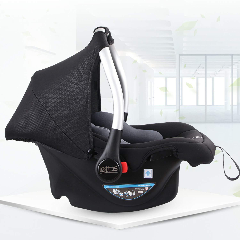 LETTAS Babyschale Baby-Autositz mit Sonnenverdeck Gruppe 0+ Kindersitz nutzbar ab der Geburt bis ca 0-13 kg 12 Monate ECE-R 44//04