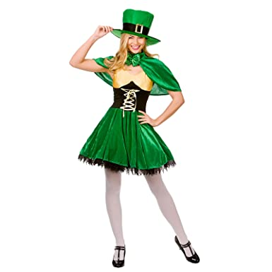 Lucky Leprechaun Lady St Patricks Fancy Dress Ladies Irish Womens Adults Costume  sc 1 st  Amazon UK & Lucky Leprechaun Lady St Patricks Fancy Dress Ladies Irish Womens ...