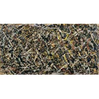 JH Lacrocon Alchemy 1947 by Jackson Pollock - 120X60 cm (Approx. 48X24 inch) Abstract Canvas Paintings Handpainted Reproduction Wall Art for Living Room
