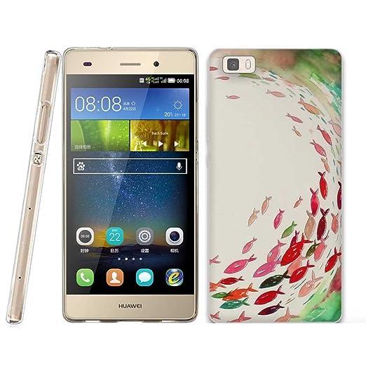 22 opinioni per Huawei P8 LITE Cover, Fubaoda Estetico 3D Rilievo UltraSlim TPU Skin Cover
