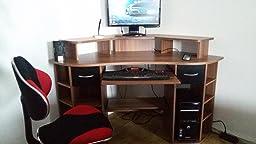 Roller eck schreibtisch vancouver computertisch for Eck arbeitstisch