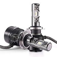 Bombilla H7 LED - 1 par, AUTLEAD para Coche Faros Delanteros, Luces Altas/Bajas, Luz Antiniebla, CSP 7200LM, 6500K Xenon Blancas, Kit de Conversión Impermeable, Todo en uno Faros Coche o Moto