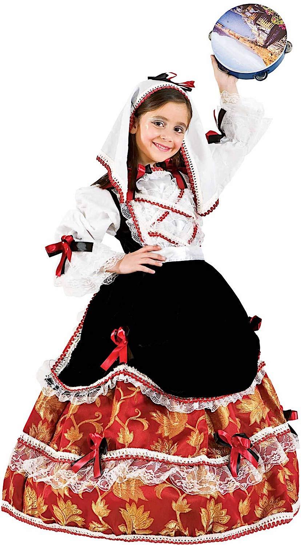 Carnevale Venizano CAV3689-L - Kinderkostüm TARANTELLA - Alter: 7-10 Jahre - Größe: L