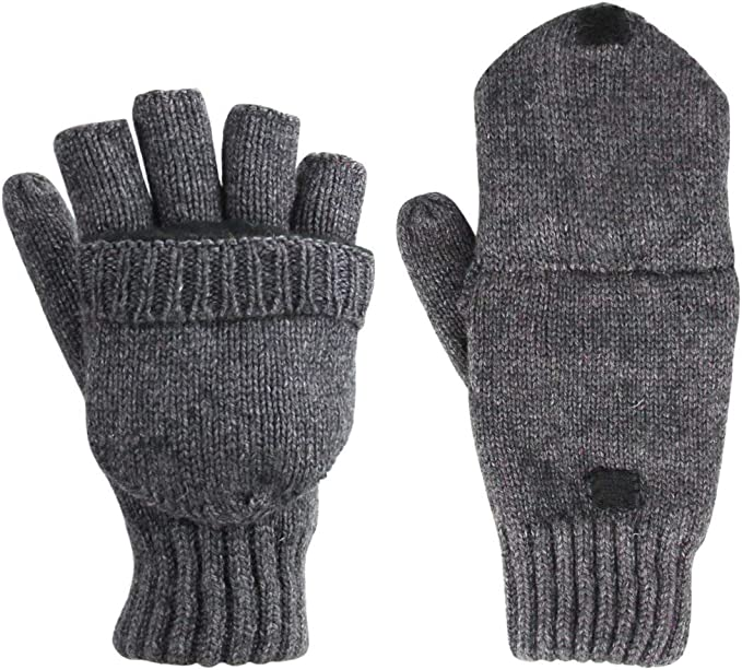 ZYCX123 Wool gloves Hot gloves Winter gloves Five Fingers Gray
