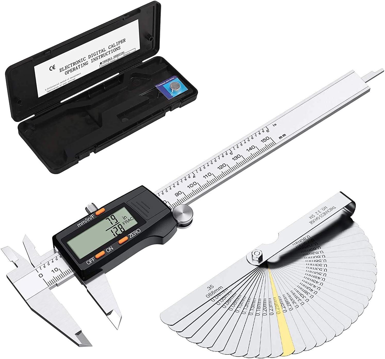 150mm Digital Vernier Caliper Gauge Internal//External LCD Display 6
