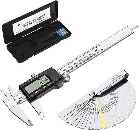 "Digital LCD Messschieber Schieblehre Edelstahl Messlehre 6/""//150mm Metrisch"