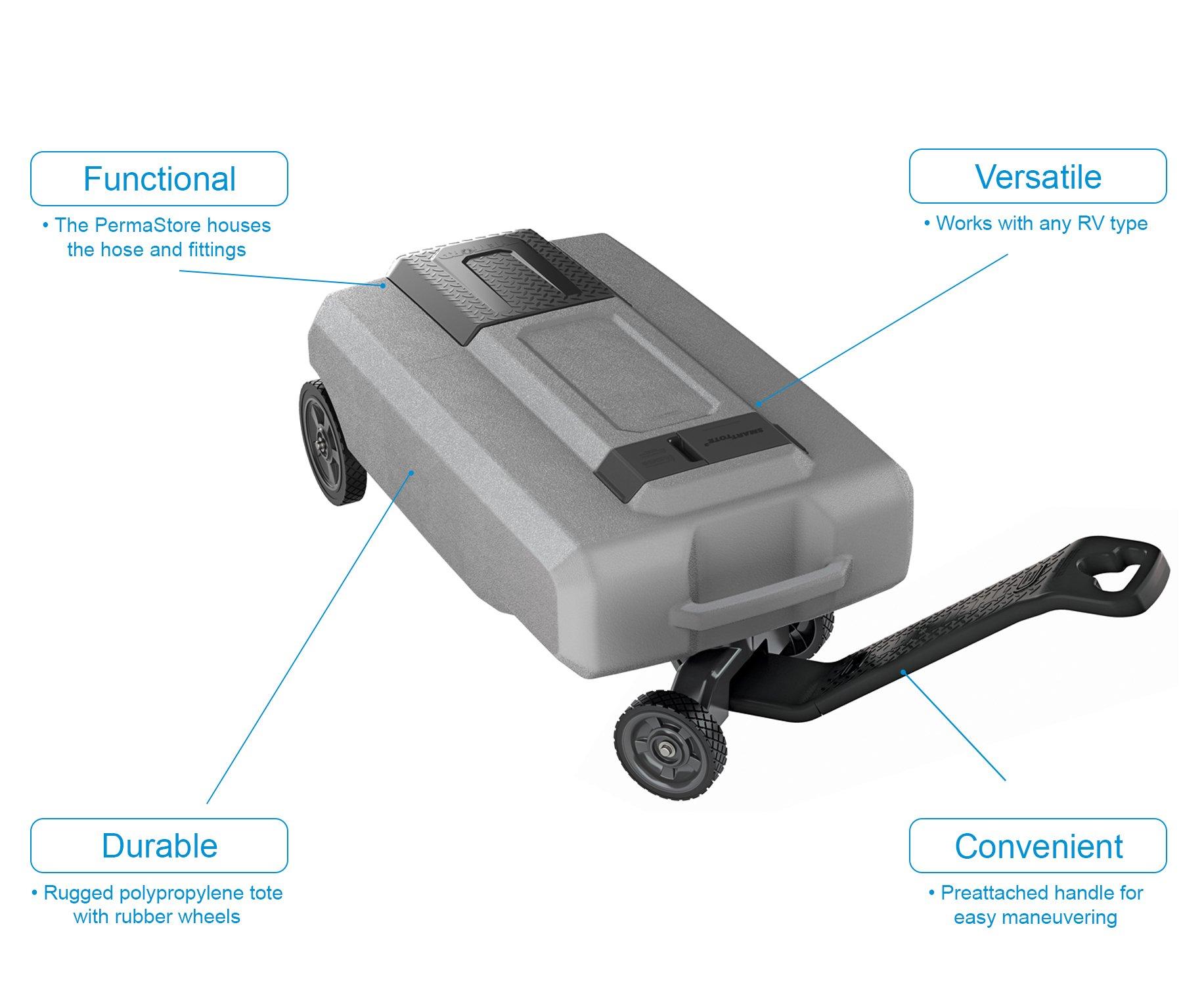 SmartTote2 40518 LX Portable RV Waste Tote Tank-4 Wheels-27 Gallons-Thetford-40518 by SmartTote2 (Image #6)