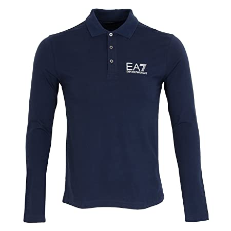0c1d480d Emporio Armani EA7 Men's Long Sleeve t-Shirt Polo Collar Grey ...