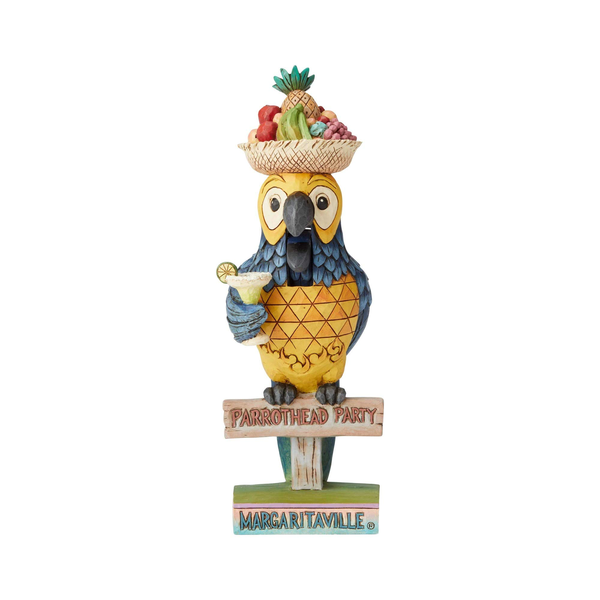 Enesco Margaritaville by Jim Shore Parrot Nutcracker Figurine, 8.5''