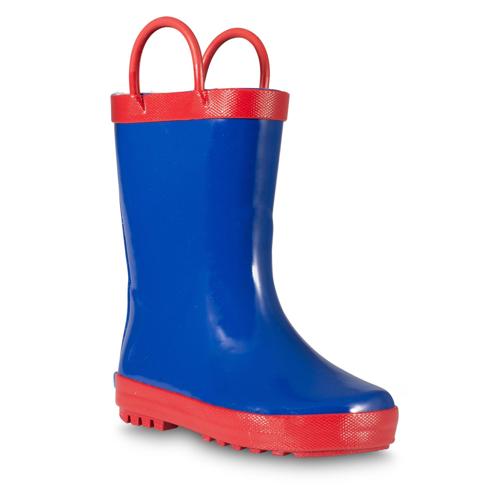 ZOOGS Kids Rainboots, Waterproof, Pull Handles, Fun Colors, Anti-Slip