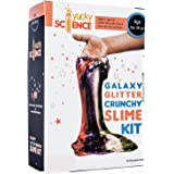 Yucky Science Galaxy Glitter Crunchy Slime Kit for Girls and Boys ( 5 Activities with Glitter, Glue & Borax), Multicolor