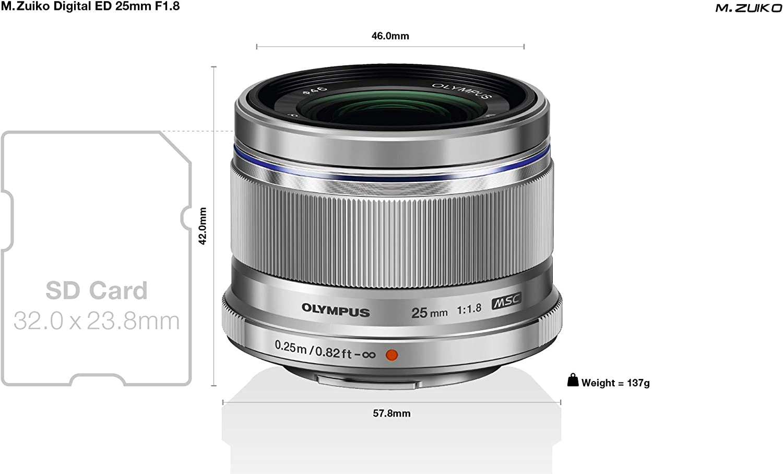 Olympus M Zuiko Digital 25mm F1 8 Objektiv Lichtstarke Kamera