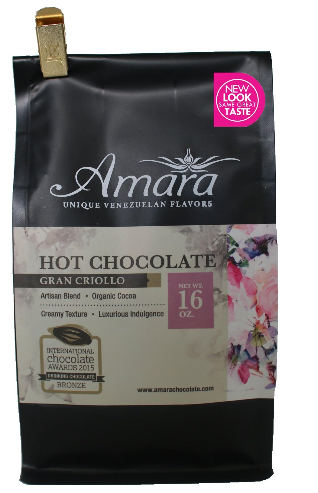 "Amara Hot Chocolate Mix. Gourmet Dark Cocoa ""Gran Criollo"". Inspired by Venezuelan Traditions for Cocoa Beverages and Culinary Creations (16 ounces)"