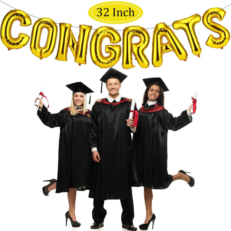 Congratulations CONGRATS Foil Balloon Banner Kit Graduation Engagement Party