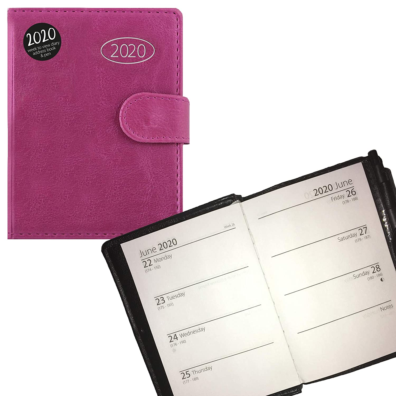 Midi Pink 0815 2020 Organiser Diary Address Book and Pen