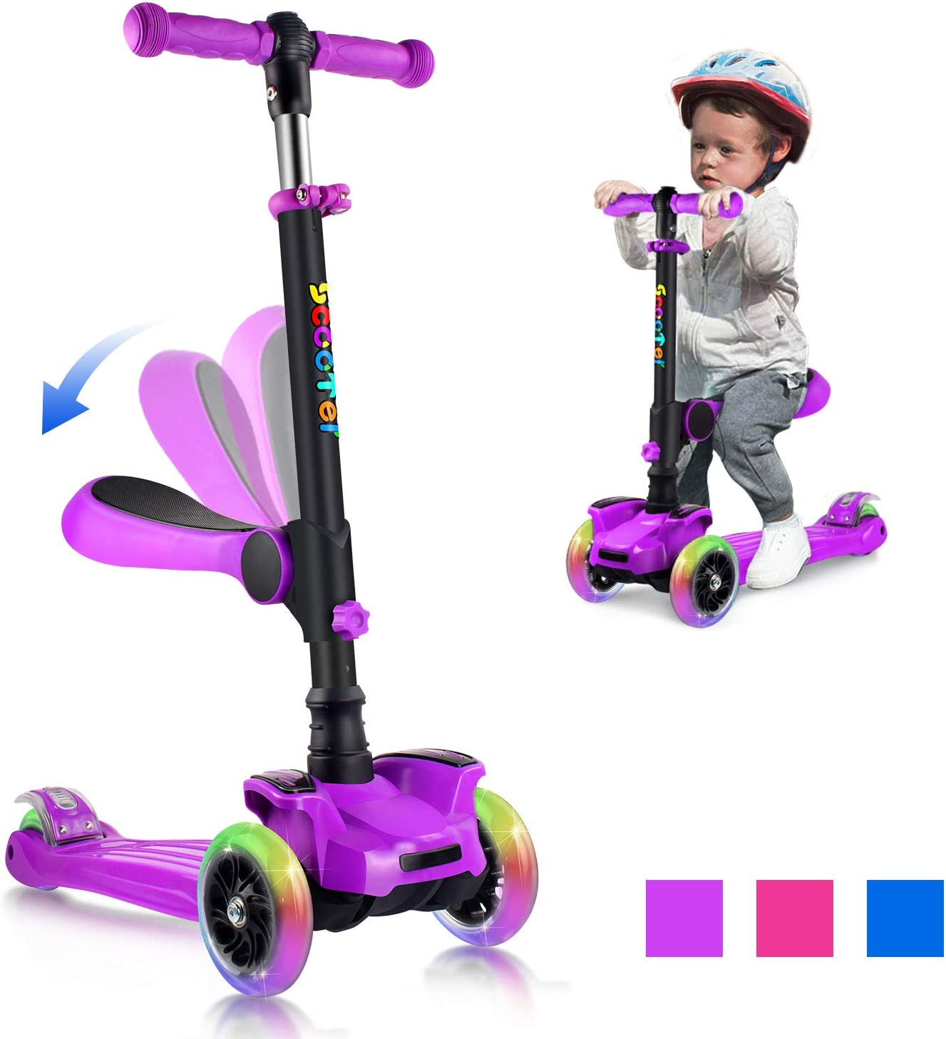 OUTON Scooter for Kids 3 Wheel Kick Scooter
