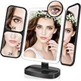 Easehold Led Lighted Vanity Mirror Make Up Tri-Fold with 21Pcs Lights 180 Degree Free Rotation Table Countertop Cosmetic…