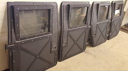 NEW M998 HUMVEE X-DOORS - SET OF 4 - BLACK - HARD DOORS & Amazon.com: NEW M998 HUMVEE X-DOORS - SET OF 4 - BLACK - HARD DOORS ...