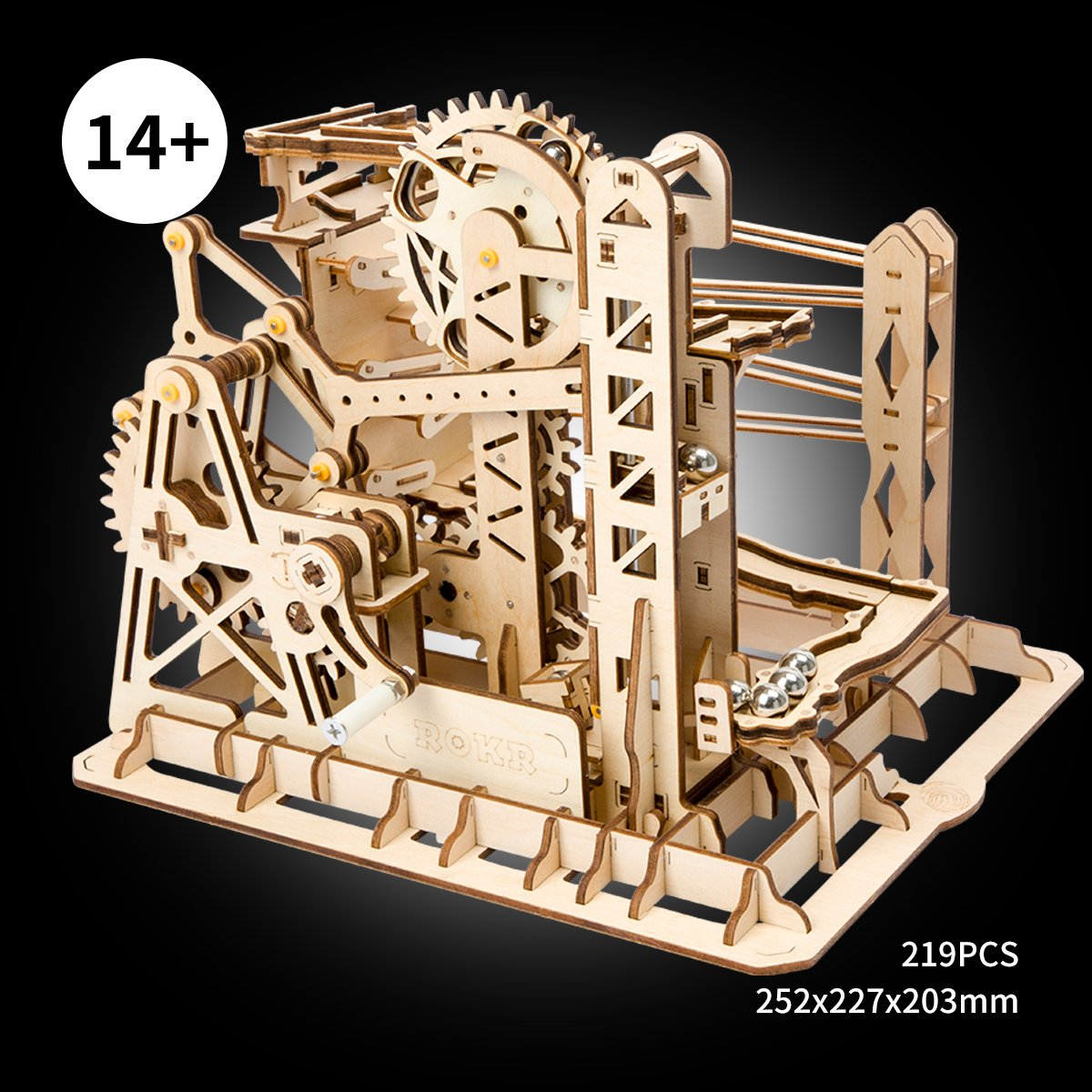 ROBOTIME 3D Puzzle Engineering Toys STEM Learning Kits Wooden Laser-Cut Model Kit Best Mechanical Gears Toy Gifts for Adults & Teens by ROBOTIME (Image #2)