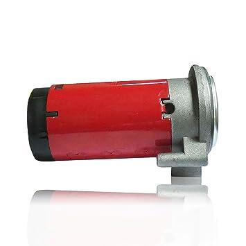 Compresor de aire comprimido, 12 V, para claxon, color rojo, de repuesto, para coche o camión, certificado E: Amazon.es: Coche y moto