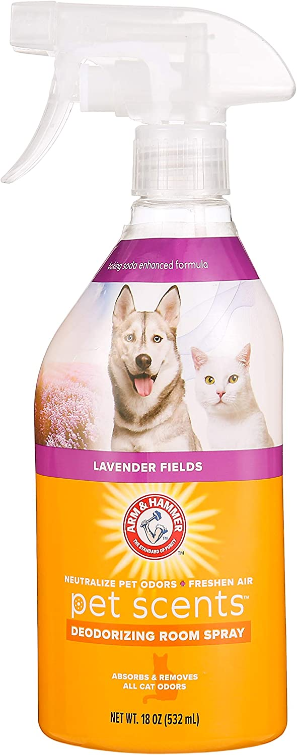 Arm & Hammer For Pets Air Care Pet Scents Room Spray for Pets in Lavender Scent | 18 oz Air Freshener Spray for Pet Odors in The Home